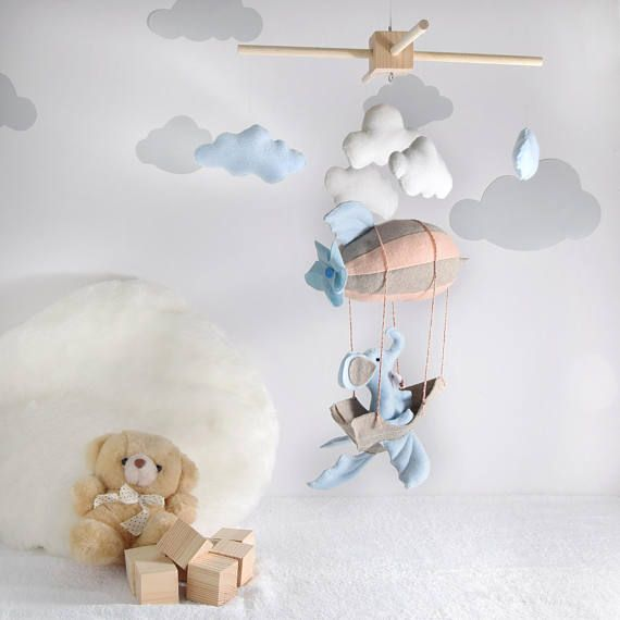 giostrina neonato elefante/PERSONALIZZABILE/ arredo cameretta