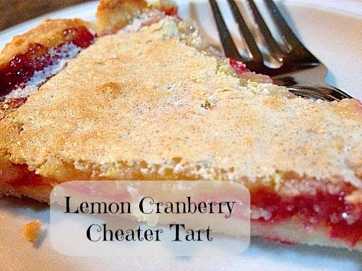 Lemon Cranberry Cheater Tart   5DollarDinners.com