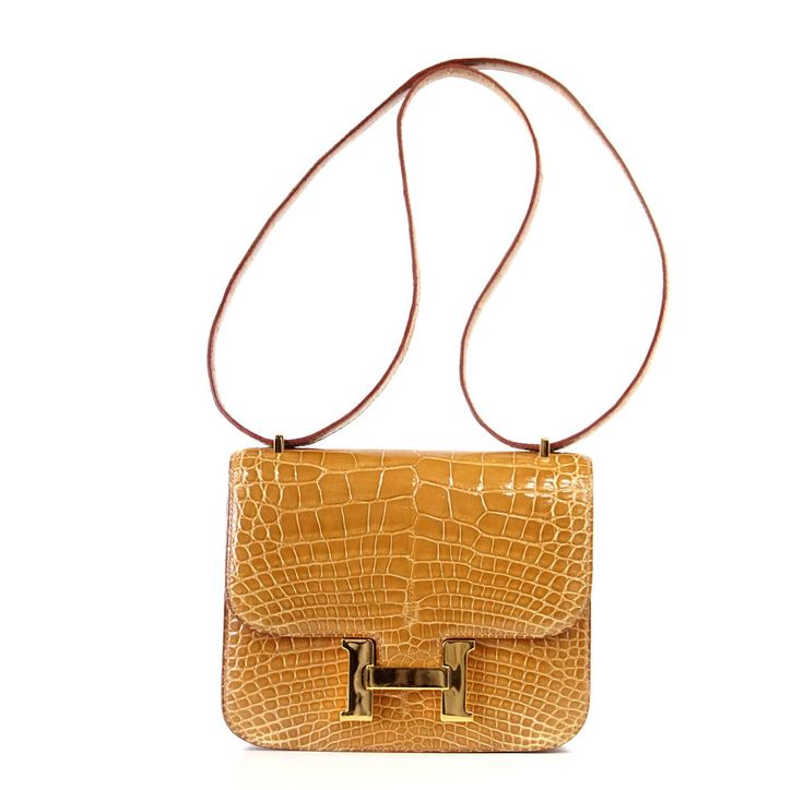 HERMES Constance Mini 18 Ficelle Alligator Gold Hardware