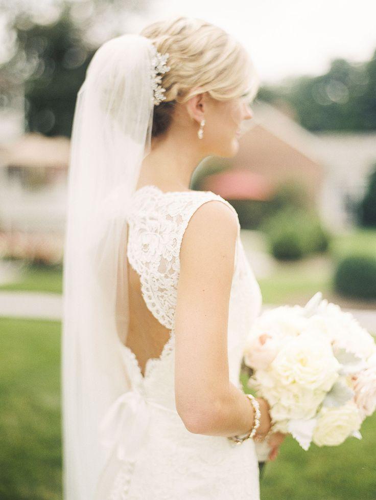 Open back lace gown: http://www.stylemepretty.com/2015/01/20/lbb-member-classic-antrim-1844-wedding/ | Photography: Krista A. Jones - kristaajones.com