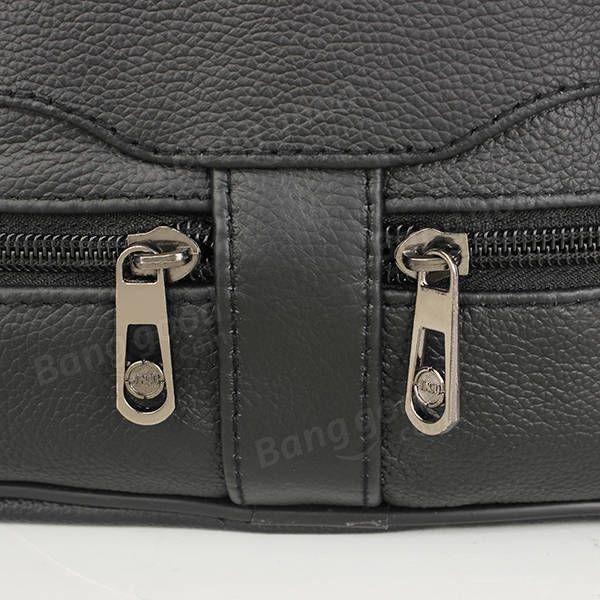 Men's Leather Outdoor Leisure Crossbody Bag Business Handbag - US$24.50