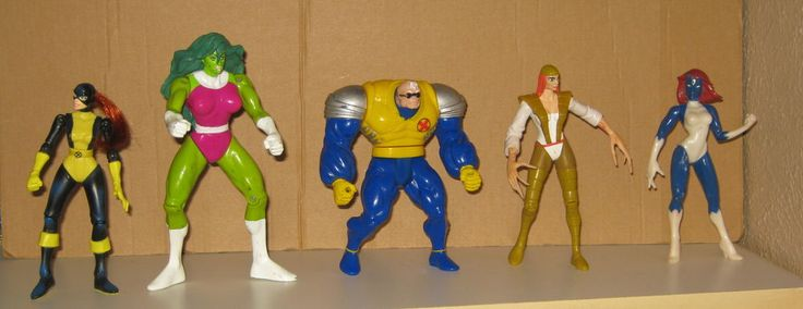 90s marvel x-men kitty pryde she-hulk strong guy deathstrike mystique figure lot from $9.99