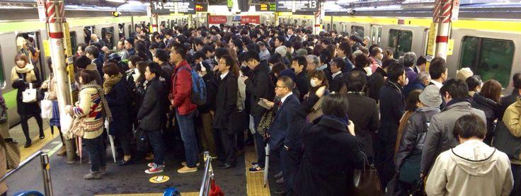 morning at shinjuku station