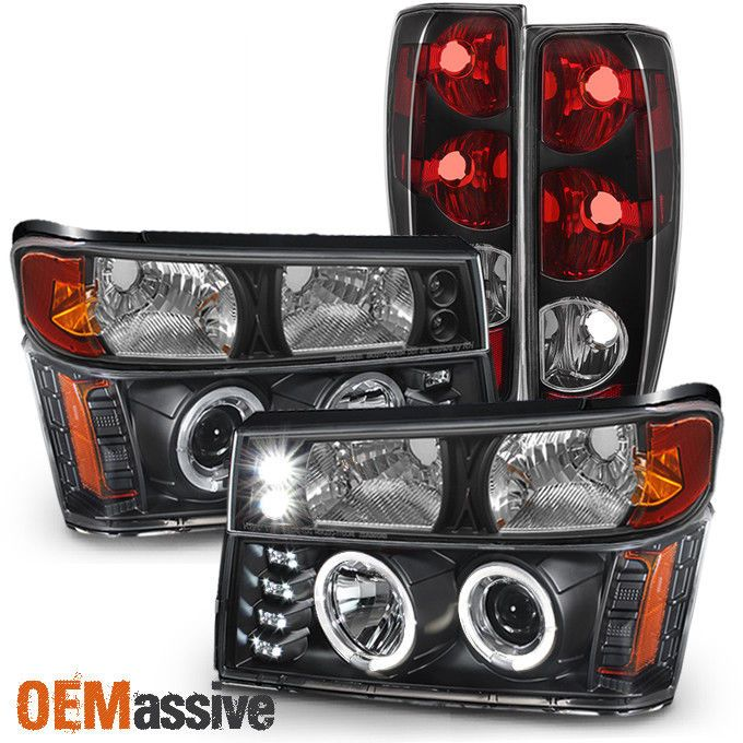 Tail Light: Solid Matte Black Paint Housing. Fits 2004-2012 Chevy Colorado All Models. Factory Style Direct Bolt On Headlight Replacement Standard High Quality Tail Light. Product Detail Information. | eBay!