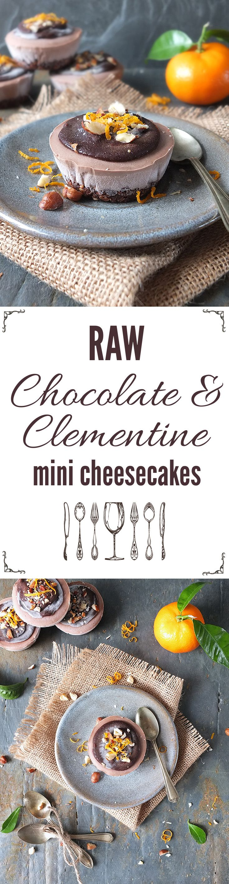 This raw, vegan chocolate and clementine mini cheesecakes have a chocolate hazelnut crust and they're remarkably simple to make!