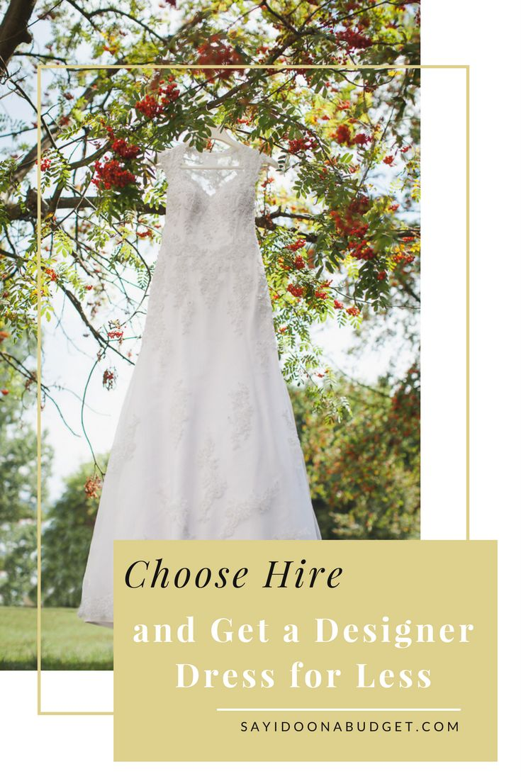 One of the massive benefits of hiring your wedding dress is that you can wear a designer you may not have been able to afford to have if you were buying the dress.