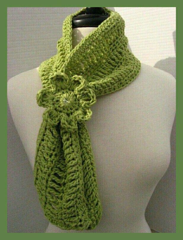 Magnífico Colmena Hilo Patrón Bufanda Crochet Ornamento - Manta de ...