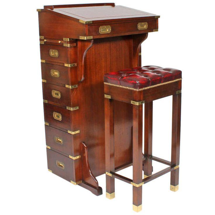 Custom for Yacht Captains Davenport Desk and Bench | 1stdibs.com - 21 Best Captain's Desk Images On Pinterest Antique Desk, Antique