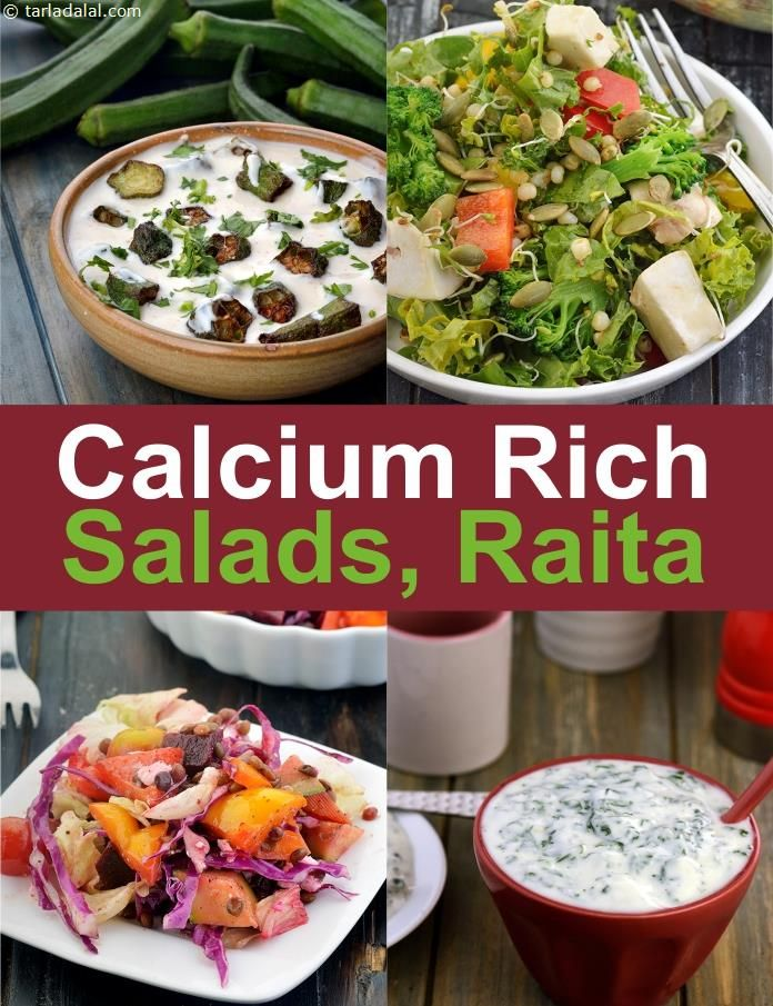 salads to increase your calcium intake