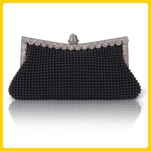 Damara Womens Dimple Mesh Crystals Mini Clutch Evening Bag, Black - Evening bags (*Amazon Partner-Link)