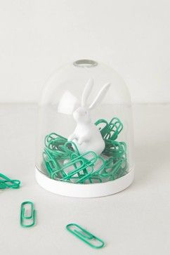 Paper Clip Dome, Bunny - contemporary - desk accessories - Anthropologie    love this !!!