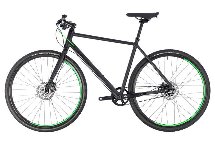 Vélo de Ville Cube Hyde Race Shimano Alfine 8v Courroie Noir / Vert 2018