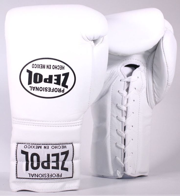 ZEPOL Professional Boxing Mexican Leather Training/Sparring Boxing Gloves -White #ZepolProfessional