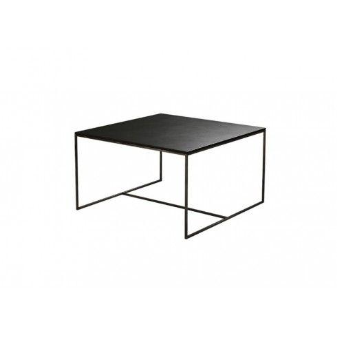 Minotti bijzettafel leger zwart leer | Minotti side table army black leather