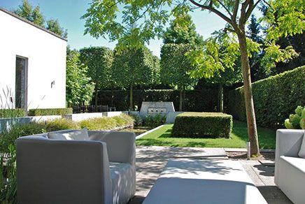 Onder architectuur aangelegde tuin in goirle inrichting garden voortuin modern - Hoe aangelegde tuin ...