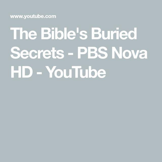 The Bible's Buried Secrets - PBS Nova HD - YouTube