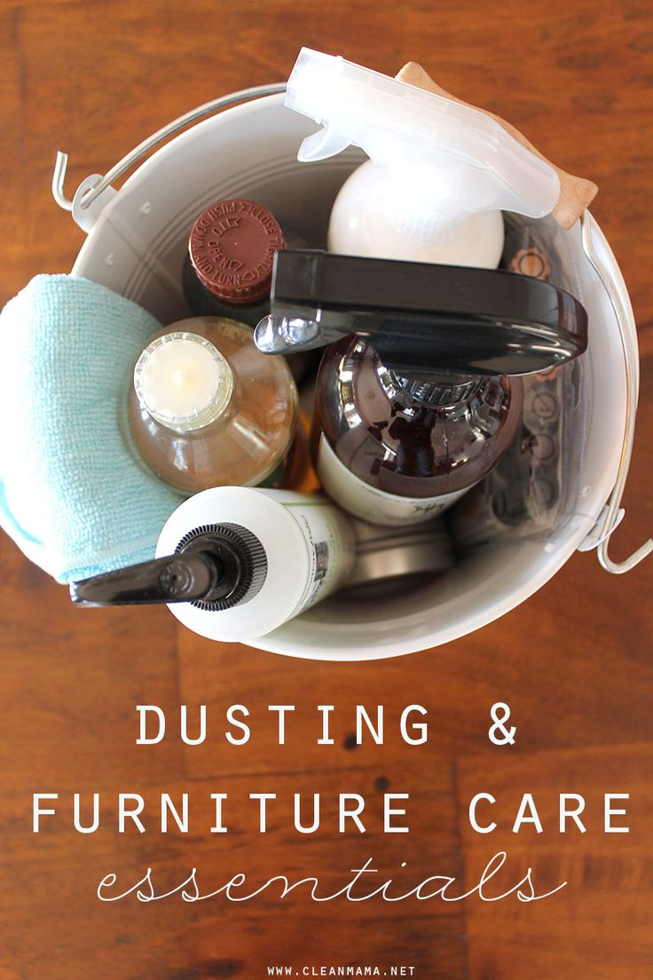 Put together a dusting caddy dusting furniture care for Furniture you put together