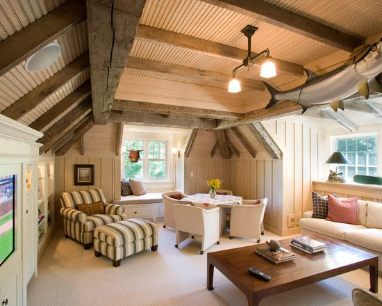 Cute attic interior inspirations pinterest for High roof living room designs