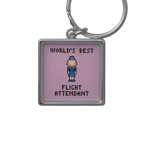 World's Best Flight Attendant Keychain
