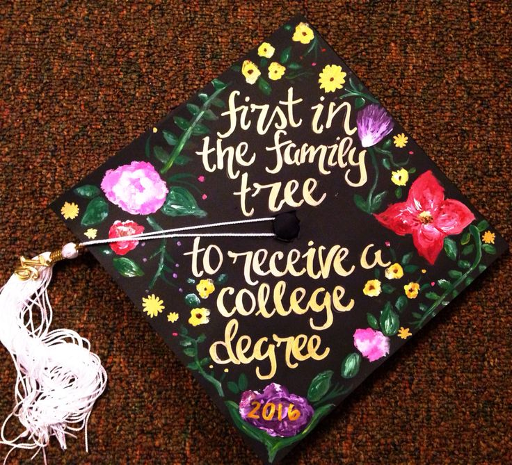 First Generation College Grad Graduation Cap Design