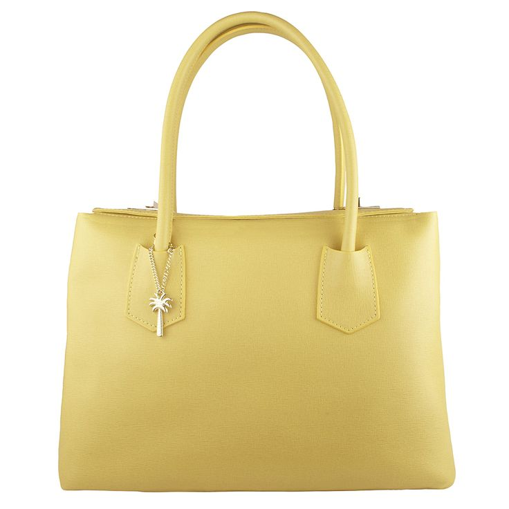 Yellow is certainly an essential summer colour in anything from chick to sunshine! Our Ginger Italian Leather Handbag is sure to brighten your mood!