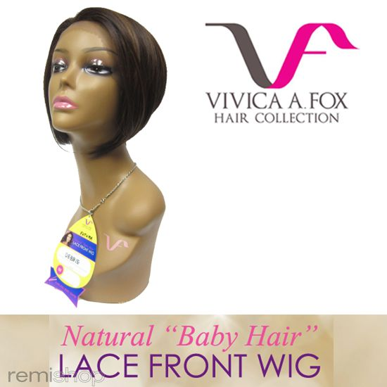"Vivica Fox Natural ""Baby Hair"" Lace Front Debbie - Color FS1B/30 - Synthetic (Curling Iron Safe) Baby Hair Lace Front Wig"