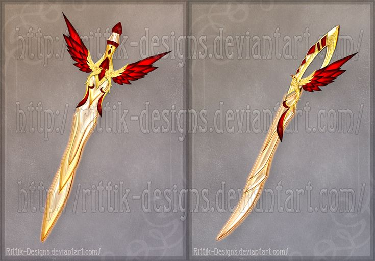 rittik-designs swords | Flaming Bird Swords by Rittik-Designs on DeviantArt