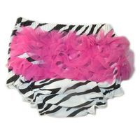 Ruffled Bloomer Nappy Cover - Zebra