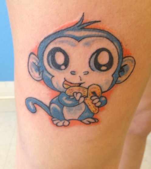 42 best tats images on pinterest tattoo ideas mother for Baby monkey tattoos