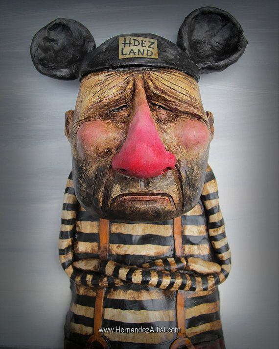 Hdez Land, HERNADEZ EDGAR ART, TEXAS. USA. Materials: Polymer Clay, Wood, Acrylic, mdf
