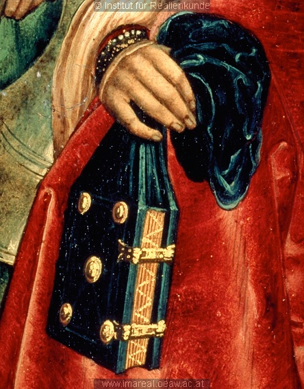 Detail from an altarpiece with St. Martin, St. Elizabeth of Thuringia, and St. Katherine from St. Florian, c. 1510-1520 girdle book
