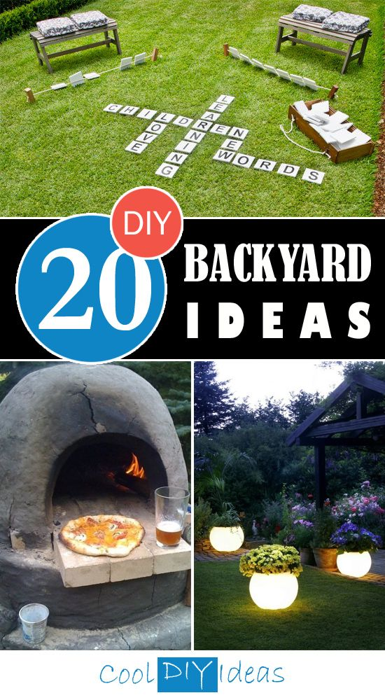Here are some great DIY ideas to help you create your backyard amazing, make it a places where you would spend all your free time.