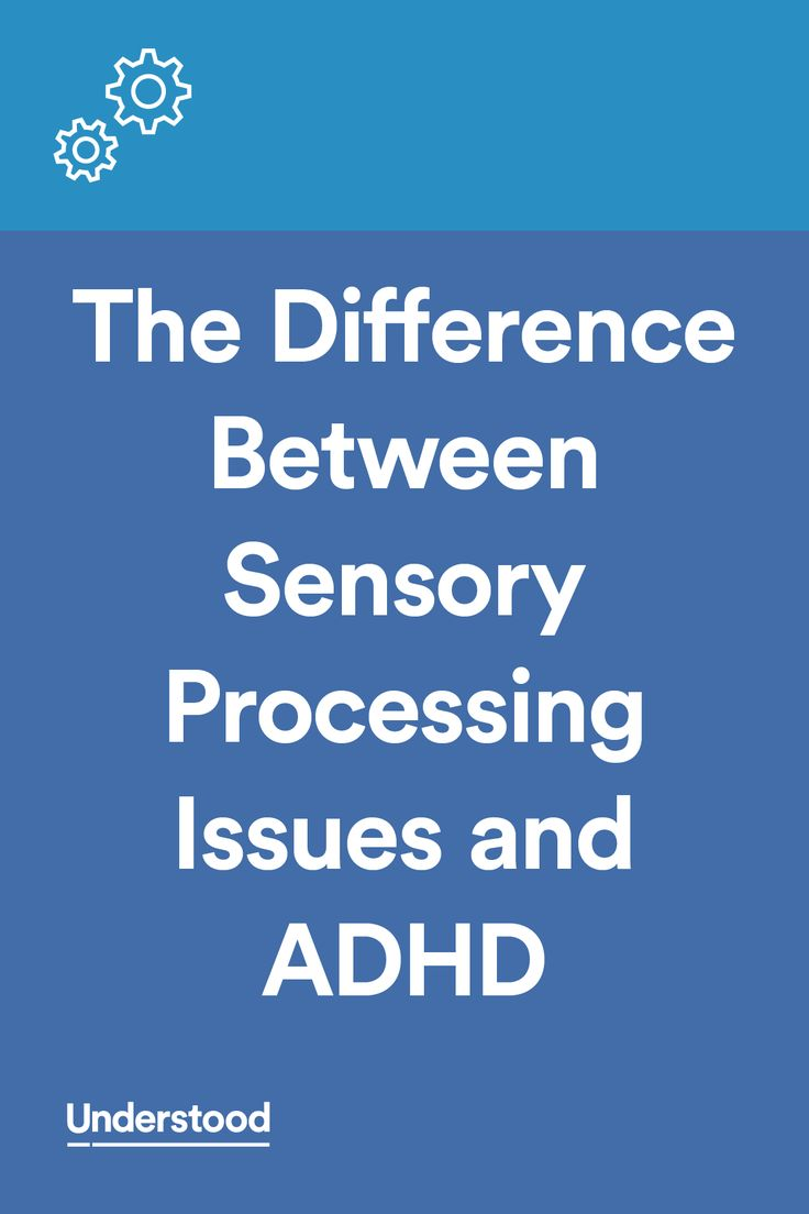 Constantly fidgeting and squirming. Invading personal space. Melting down in public. These can be signs of both ADHD and sensory processing issues. While they're different issues, they have some overlap and can occur together.