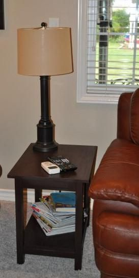 end tables to match the media wine storage cabinet do it. Black Bedroom Furniture Sets. Home Design Ideas