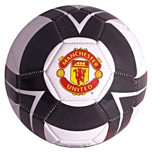 Manchester United Cyclone Size 5 Football Black White Red