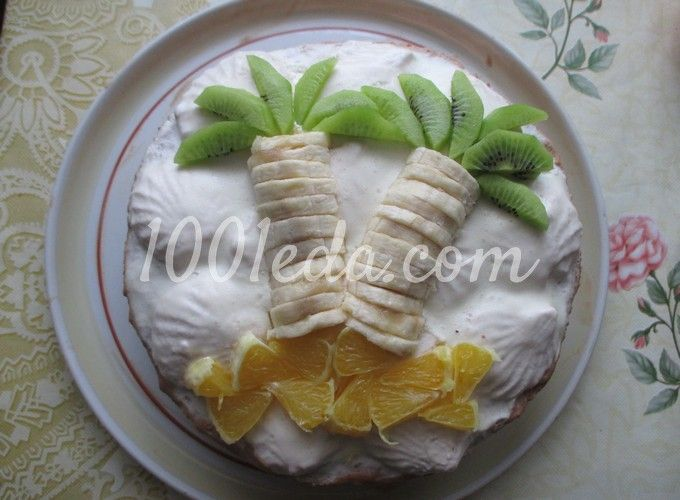 Зефирный торт для детей Таинственный остров: рецепт с пошаговым фото