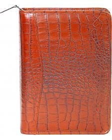 Scully Croc Print Leather 3-Ring Organizer