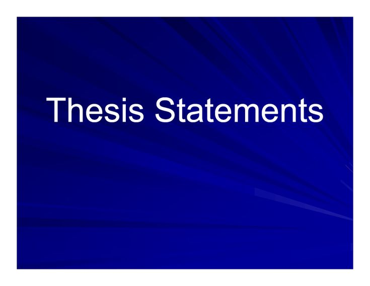 writing thesis statement apa