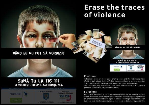 Romanian Police Child Helpline Association: Erase the traces of violence