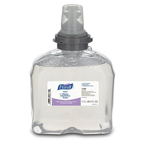 #followf #makeover #PURELL non-alcohol formulation 5384-02 SF607 TFX hand sanitizer, 1200 mL refill container, is an antimicrobial foam with benzalkonium chlorid...