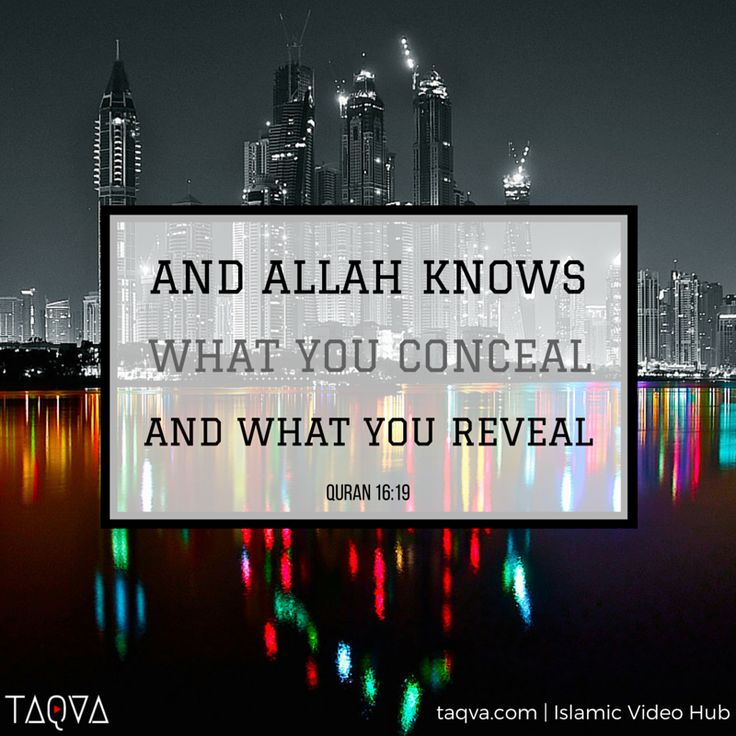 """And Allah knows what you conceal and what you reveal."" #Quran 16:19 #Islam"