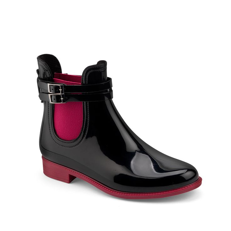 Beatle low boot in two colours with an elastic band and double strap