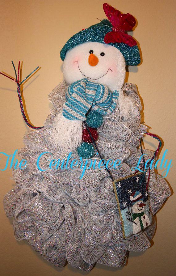1000 Images About Deco Mesh Snowman On Pinterest