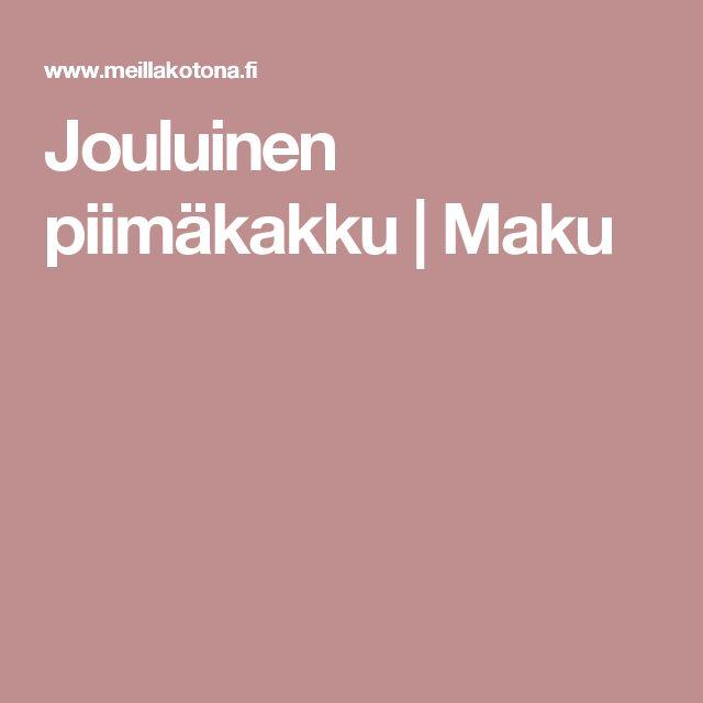 Jouluinen piimäkakku | Maku