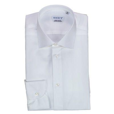 Shirts - GIODI'S - Camicia in cotone doppio ritorto, vestibilità SLIM - Bianco. €18,00 - #hallofbrands #hob #camicia #shirt