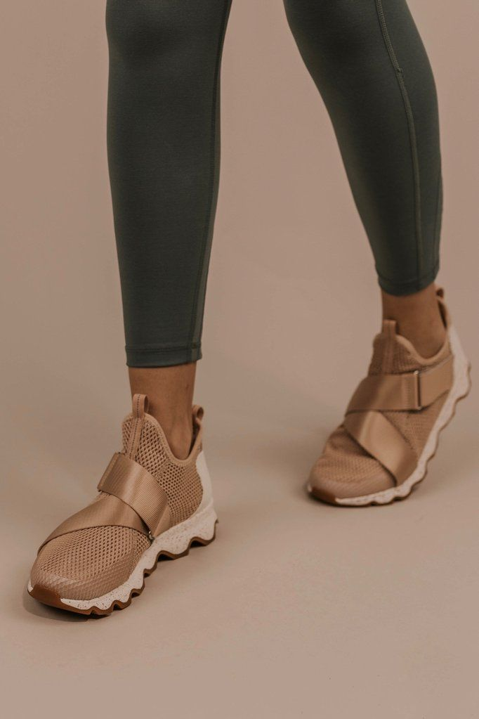 Rose Gold Sorel Sneaker - Workout Shoes