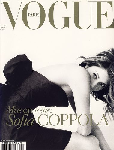Vogue cover: Sofia Coppola by  Mario Testino