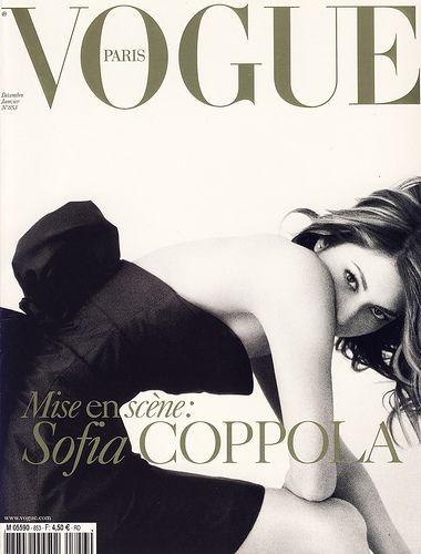 Vogue cover: Sofia Coppola by  Mario Testino