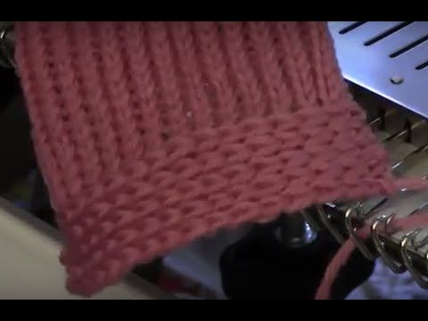 Machine Knitted Decorative No-Roll Edge by Diana Sullivan - YouTube