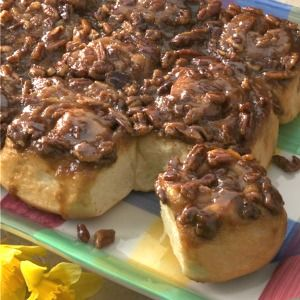 Caramel-Pecan Sticky Buns Recipe from Taste of Home -- shared by Judy Powell of Star, Idaho